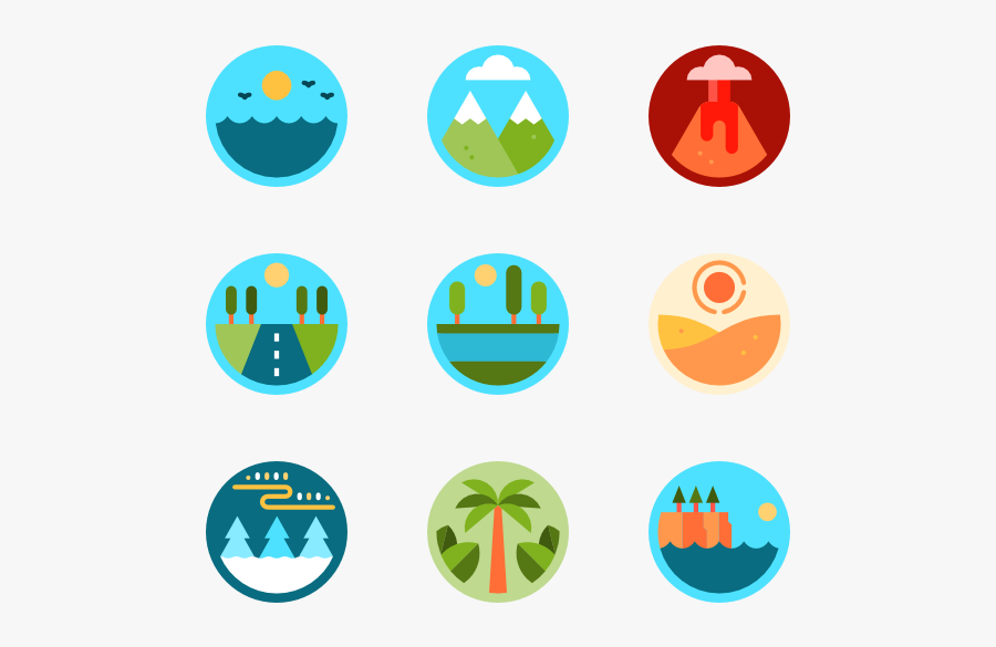 Clip Art Mountain Vector Png - Landscapes Icons, Transparent Clipart