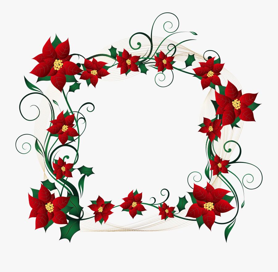 Christmas Decorative Border Transparent Png - Decorative Borders For Christmas, Transparent Clipart