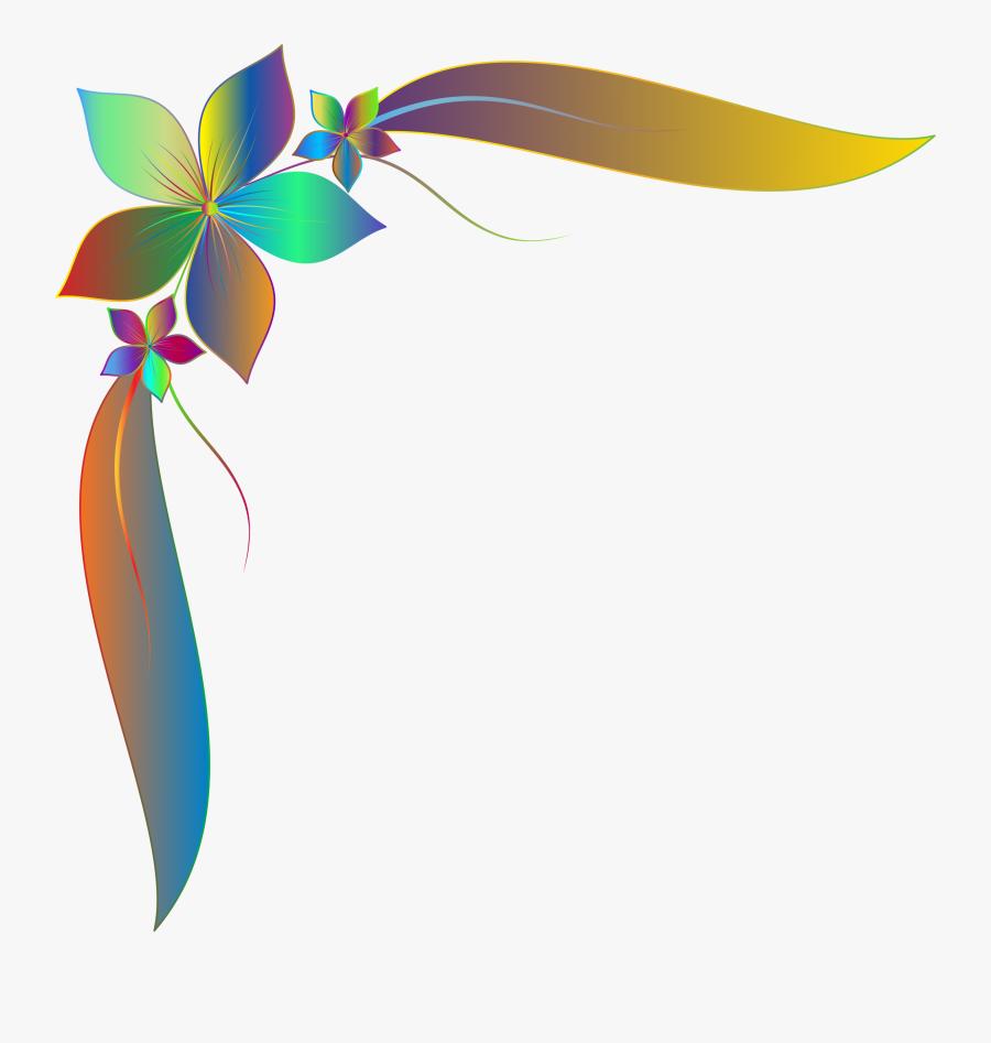 Decorative Borders Floral Design Encapsulated Postscript - Flower Simple Border Design, Transparent Clipart