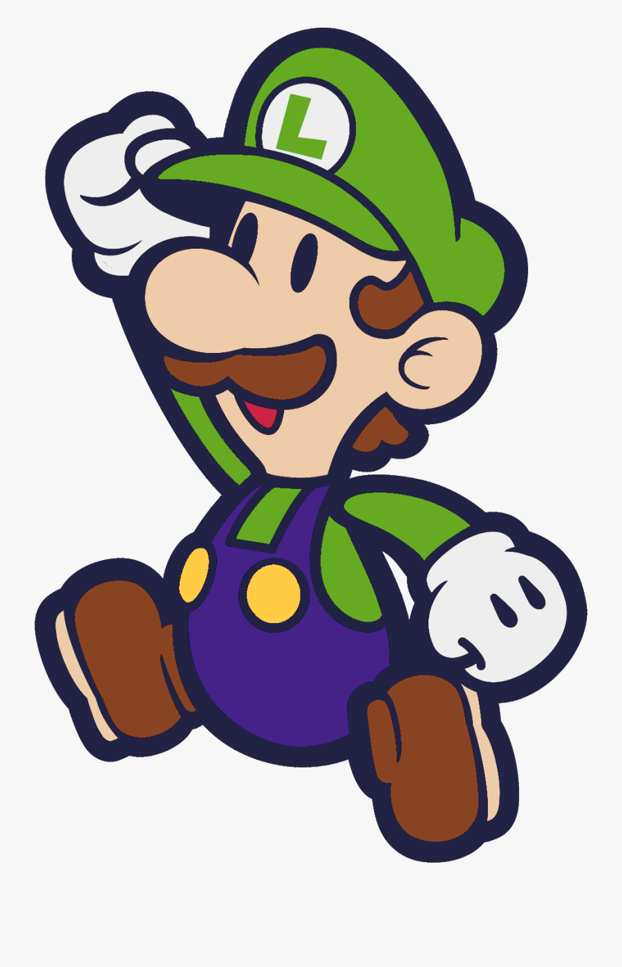 Paper Mario And The - Jumping Paper Mario And Luigi, Transparent Clipart