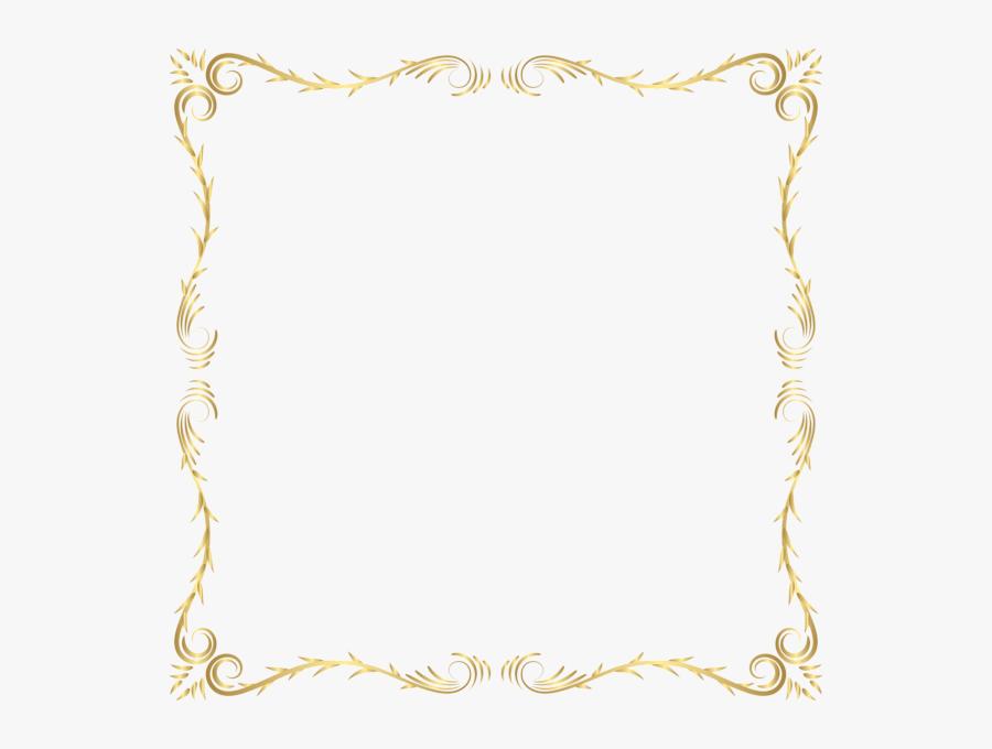 Cliparts Border Transparent Png - Gold Decorative Border Png, Transparent Clipart