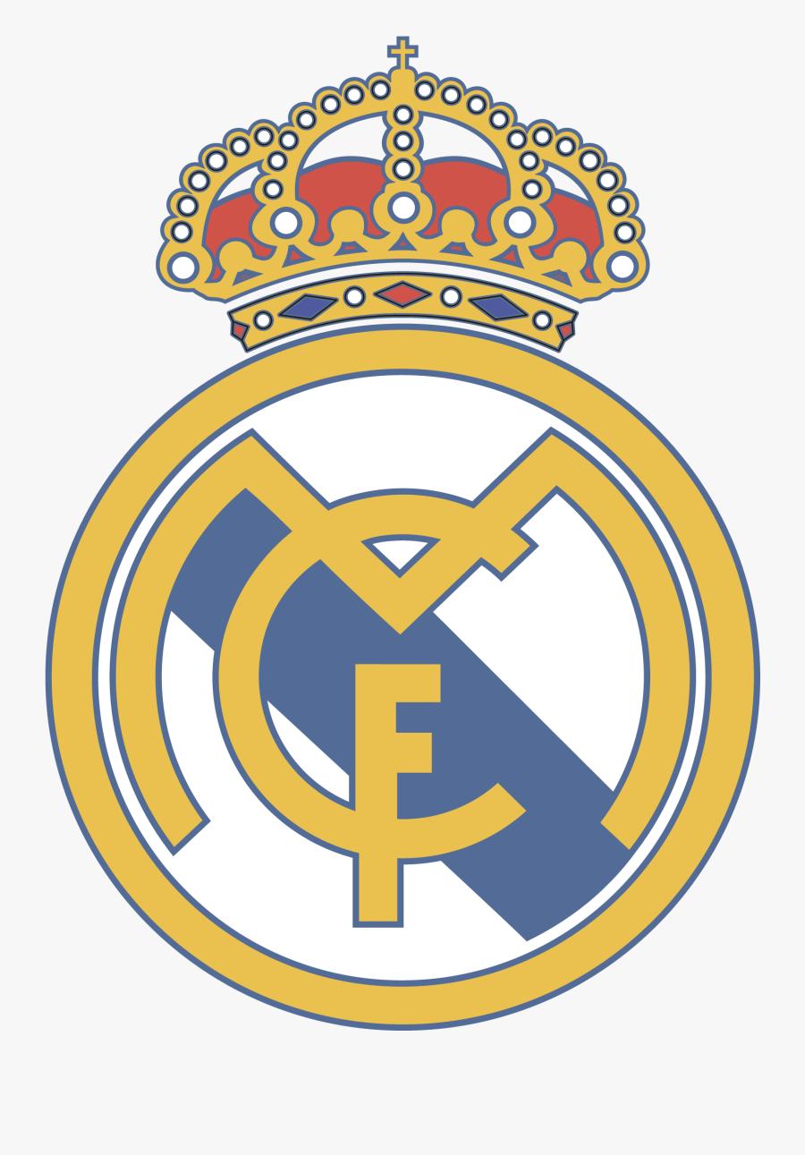 Transparent Film Real Clipart - Real Madrid Football Logo, Transparent Clipart