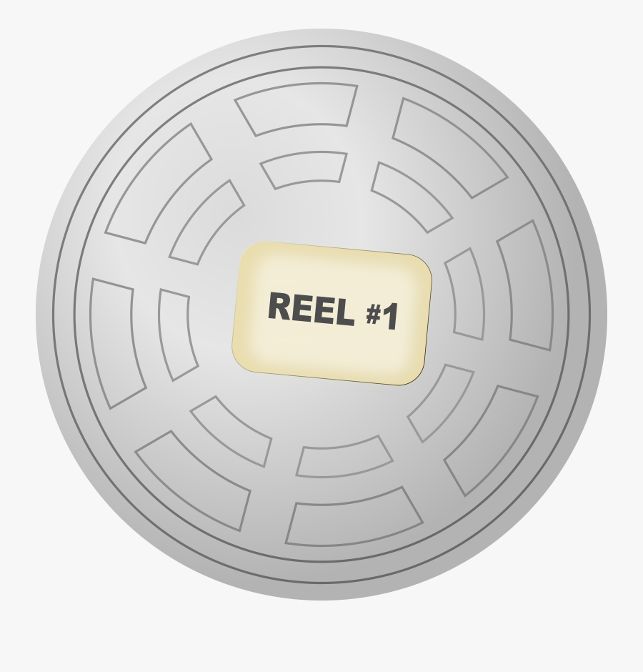 Clip Freeuse Library Motion Picture Reel Canister - Film Reel Canister, Transparent Clipart