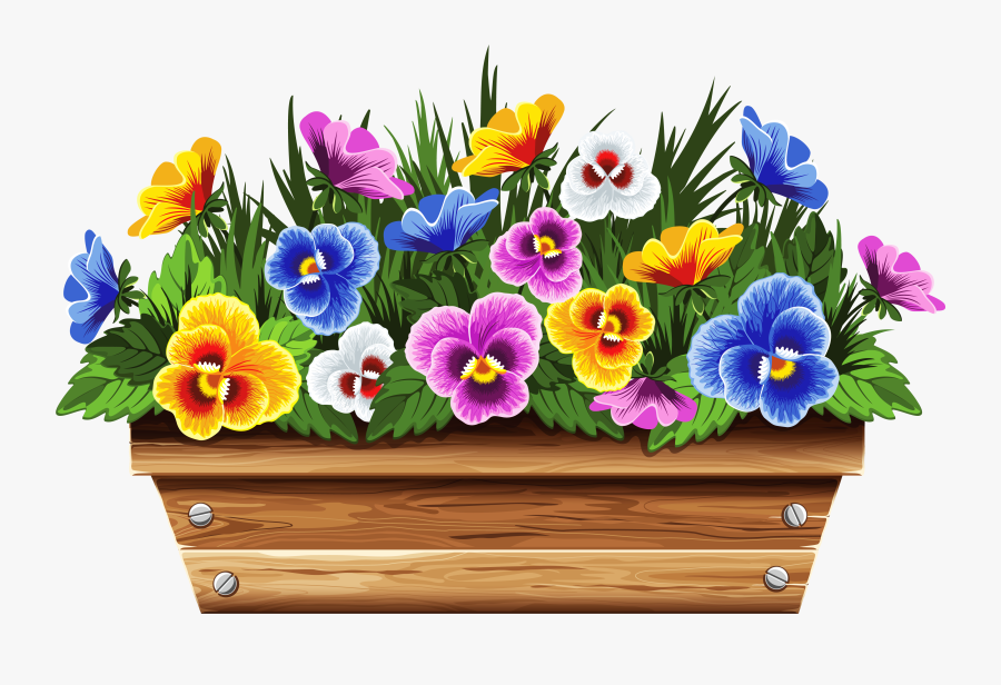 Transparent Potted Tree Png - Window Flower Box Clipart, Transparent Clipart