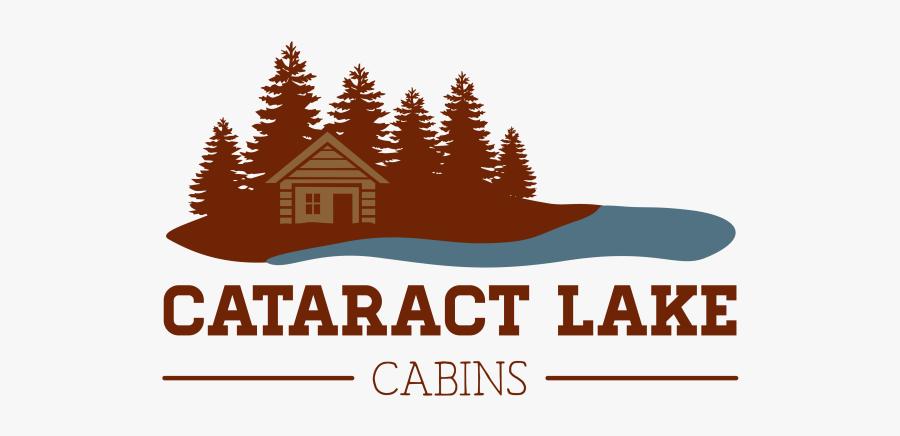 Lake Cabin Logo, Transparent Clipart