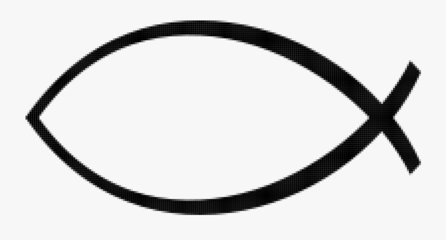 Symbol,rim,line - Ichthys Christian Symbol, Transparent Clipart