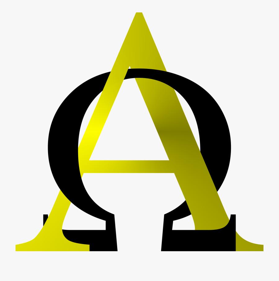 Alpha, Omega, Symbol, Christian, Religious, Religion - Alpha And Omega Symbols God, Transparent Clipart