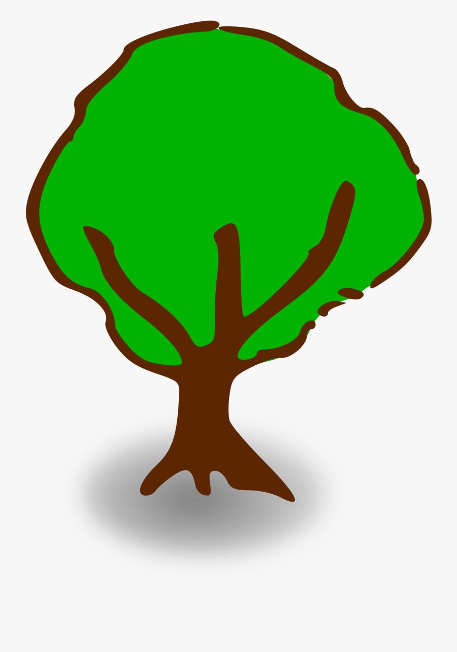 Rpg Map Symbols - Cartoon Tree No Background, Transparent Clipart