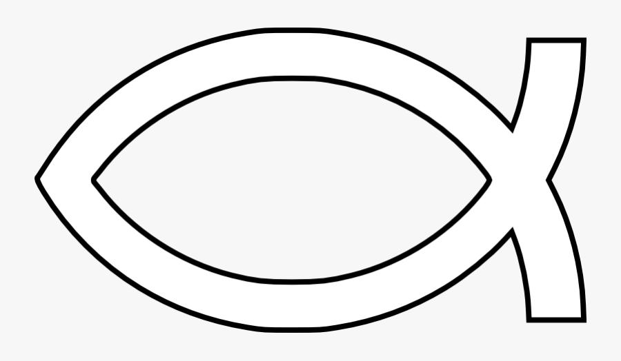 Pictures Christian Symbols - Christian Fish Symbol White, Transparent Clipart