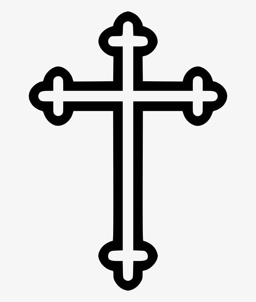 Cross Christian Religion Symbol Byzantine - Orthodox Cross Png, Transparent Clipart