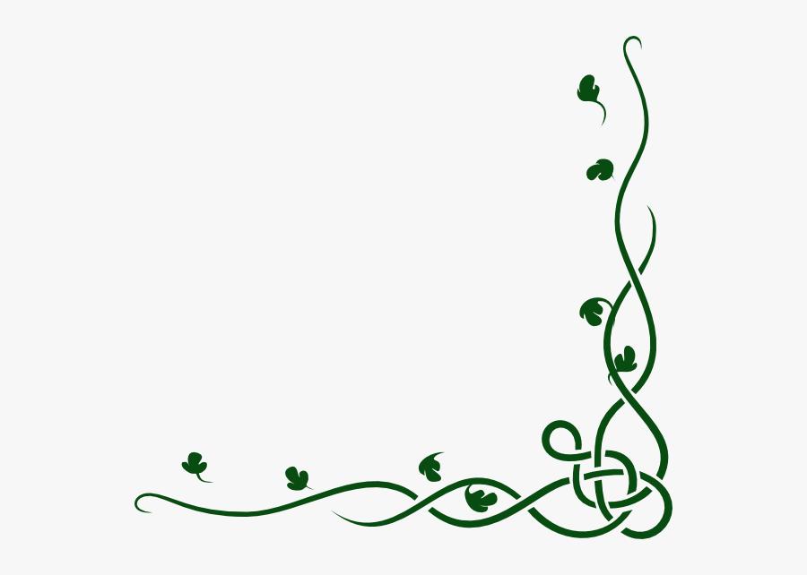 Vines Clipart Celtic - Corner Borders - Free Transparent PNG Clipart Images  Download