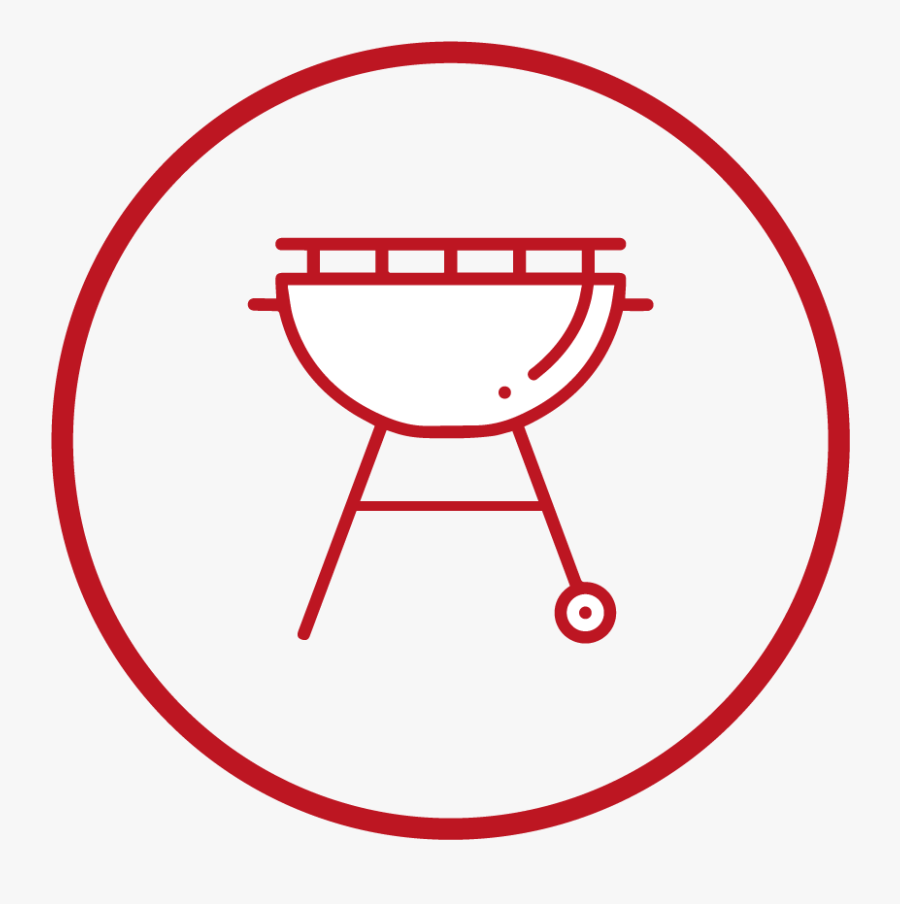 Fits All - Barbecue Icon White, Transparent Clipart