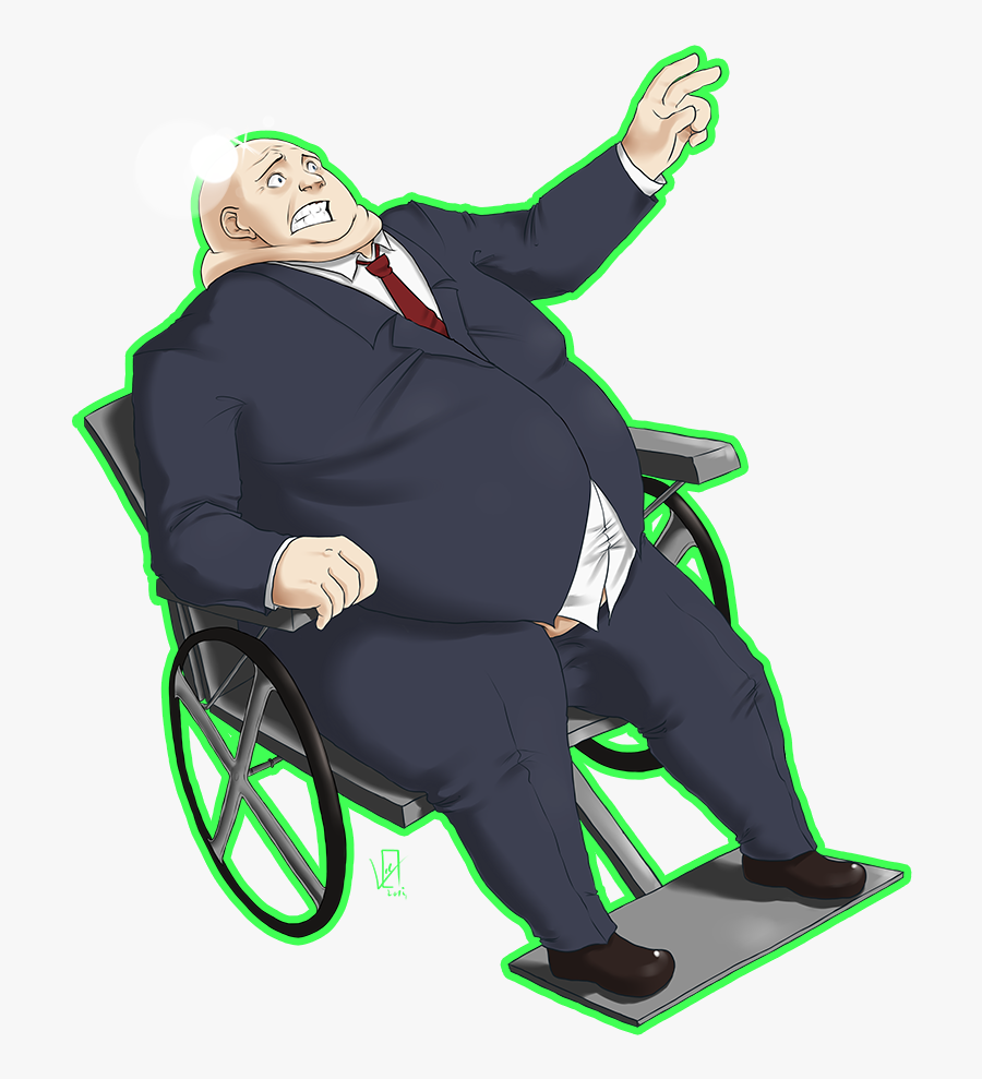 Http - //i - Imgur - Com/xzkibme - Fat Professor X - Obese Person In A Wheelchair Clipart, Transparent Clipart
