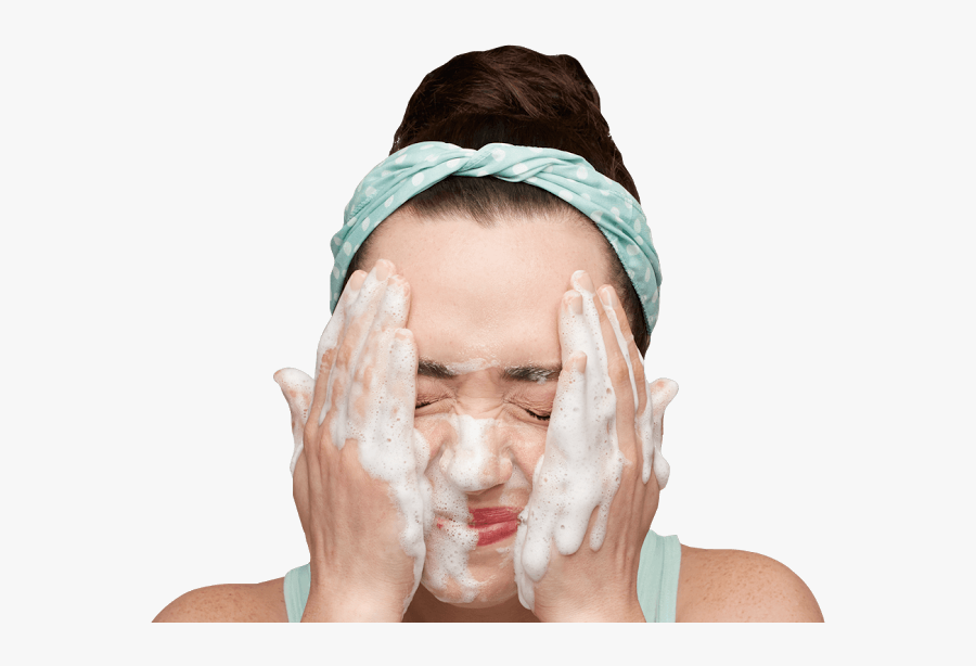 Washing Face With Face Wash, Transparent Clipart