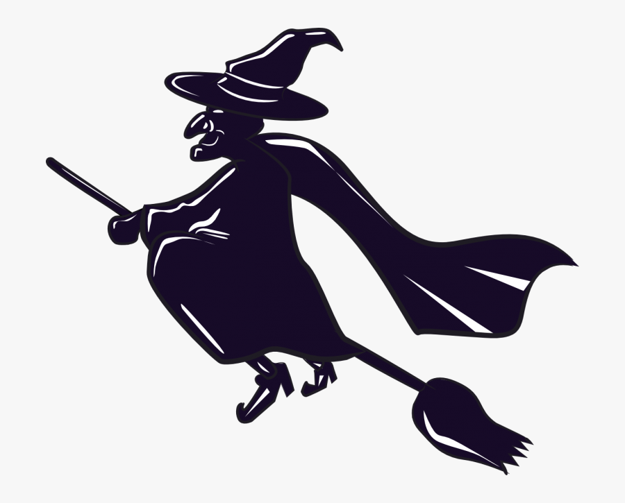 """Clip Art Witch""""s Broom Witchcraft Openclipart - Witch On A Broomstick Clipart, Transparent Clipart"""
