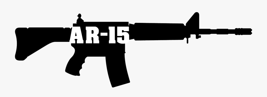 Ar-15 Cliparts - Ar 15 Rifle Png, Transparent Clipart
