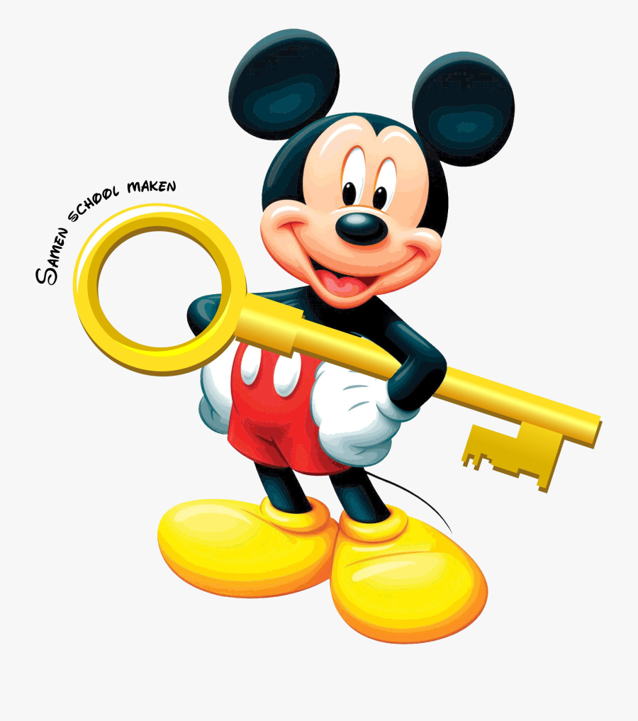 Mickey Mouse De Sleutel - Face Wallpaper Mickey Mouse, Transparent Clipart