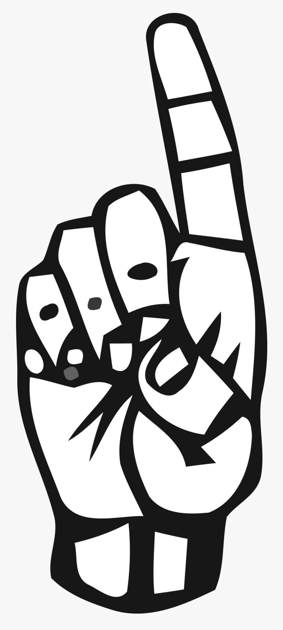 Alphabet Deaf Deaf Alphabet Free Picture - Sign Language Letter D Png, Transparent Clipart
