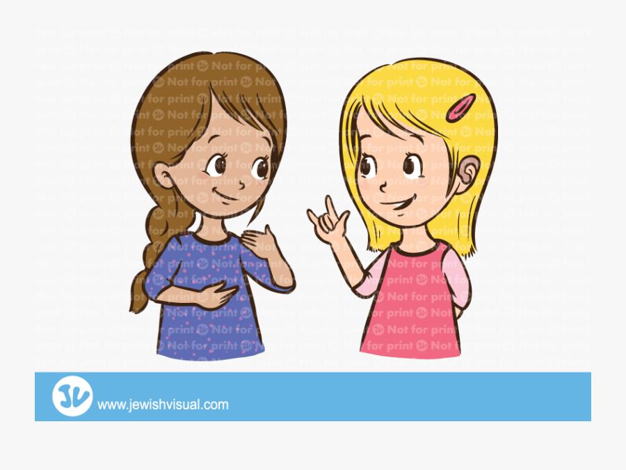 Image Freeuse Stock Girsl Jvisual - Talking Sign Language People Illustration, Transparent Clipart