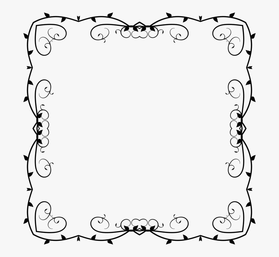 Picture Frame,line Art,area - Free Design Square Border, Transparent Clipart