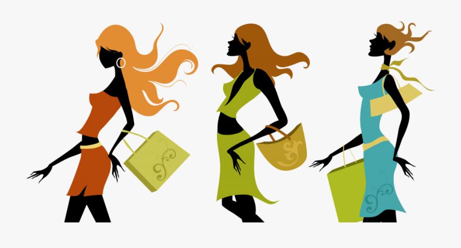 Ladies Fashion Accessories - Girls Shopping, Transparent Clipart