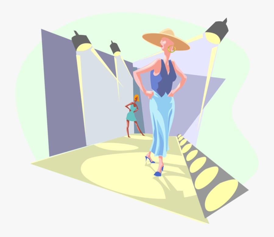 Transparent Fashion Runway Clipart - Fashion Runway Vector, Transparent Clipart