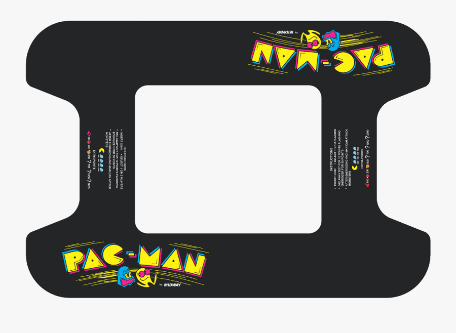 Pacman Cocktail Art Highscoresaves - Arcade Cocktail Table Design, Transparent Clipart