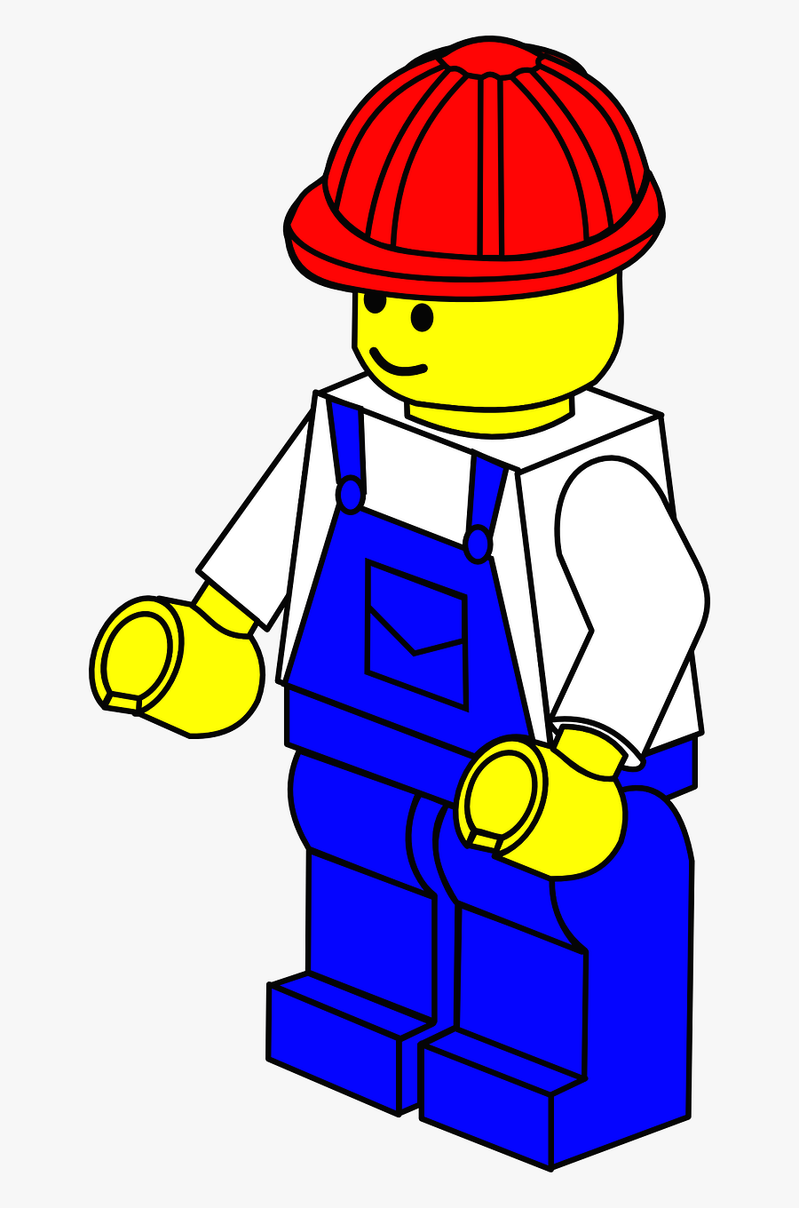Lego Town Worker - Lego Builder Coloring Pages , Free ...