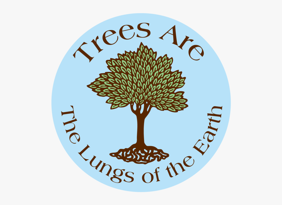 Trees Lungs Earth Button - Trees Are Lungs Of The Earth, Transparent Clipart