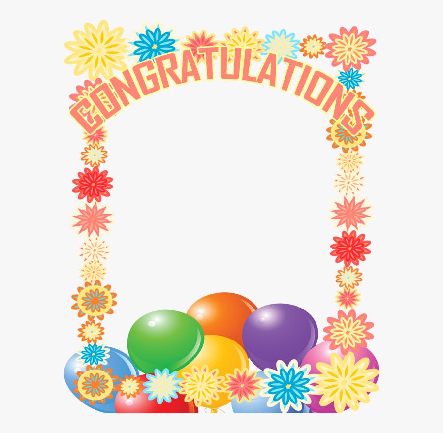 Free Congratulations Frame - Congratulations Photo Frame Png, Transparent Clipart