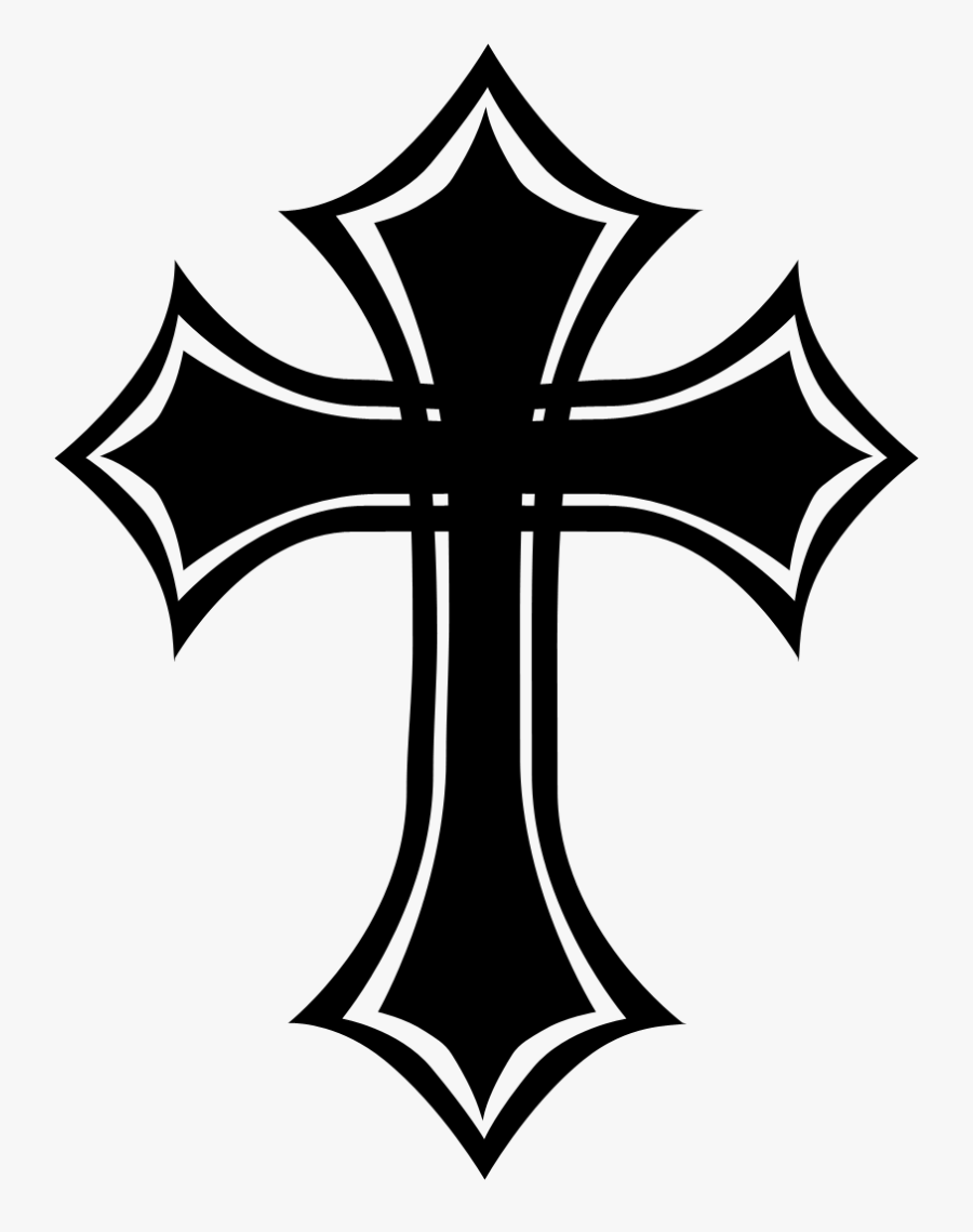 Celtic Cross Christian Cross Gothic Fashion Crucifix - Black Gothic Cross, Transparent Clipart