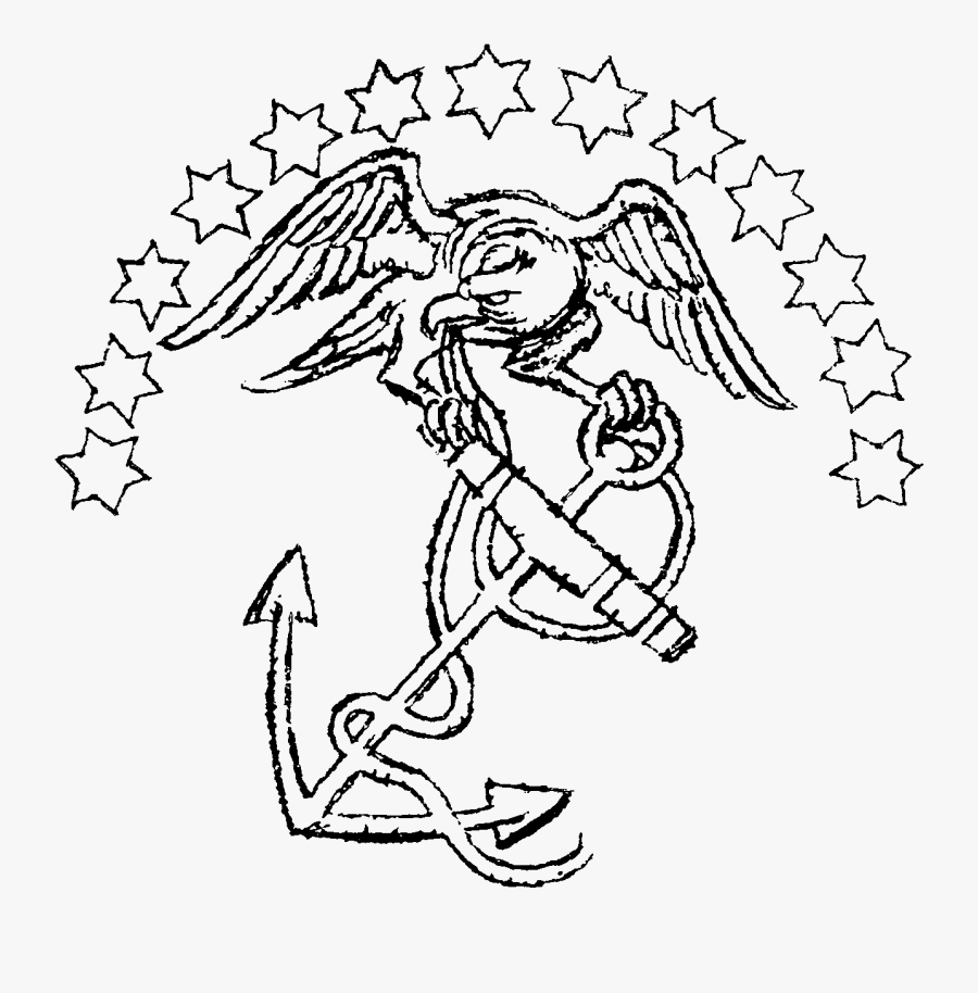 Banner Library Library Marine Corps Logo Drawing At - Old Marine Corps Logo, Transparent Clipart