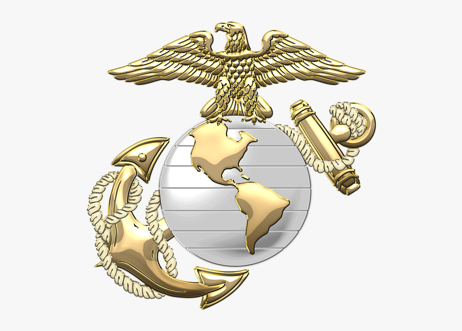U S Marine Corps Clip Freeuse Library - Us Marine Logo Png, Transparent Clipart