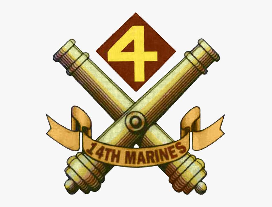 14th Marine Regiment United States Png Logo - 14th Marines, Transparent Clipart