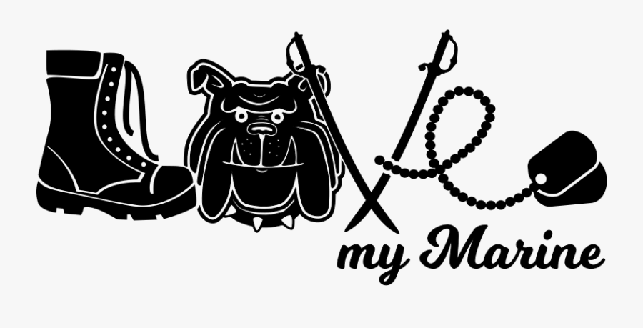 Love My Marine Clip Art, Transparent Clipart