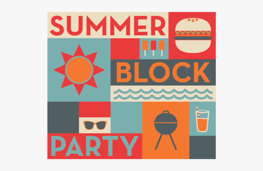 Saint Boniface Kersey - Summer Neighborhood Block Party, Transparent Clipart