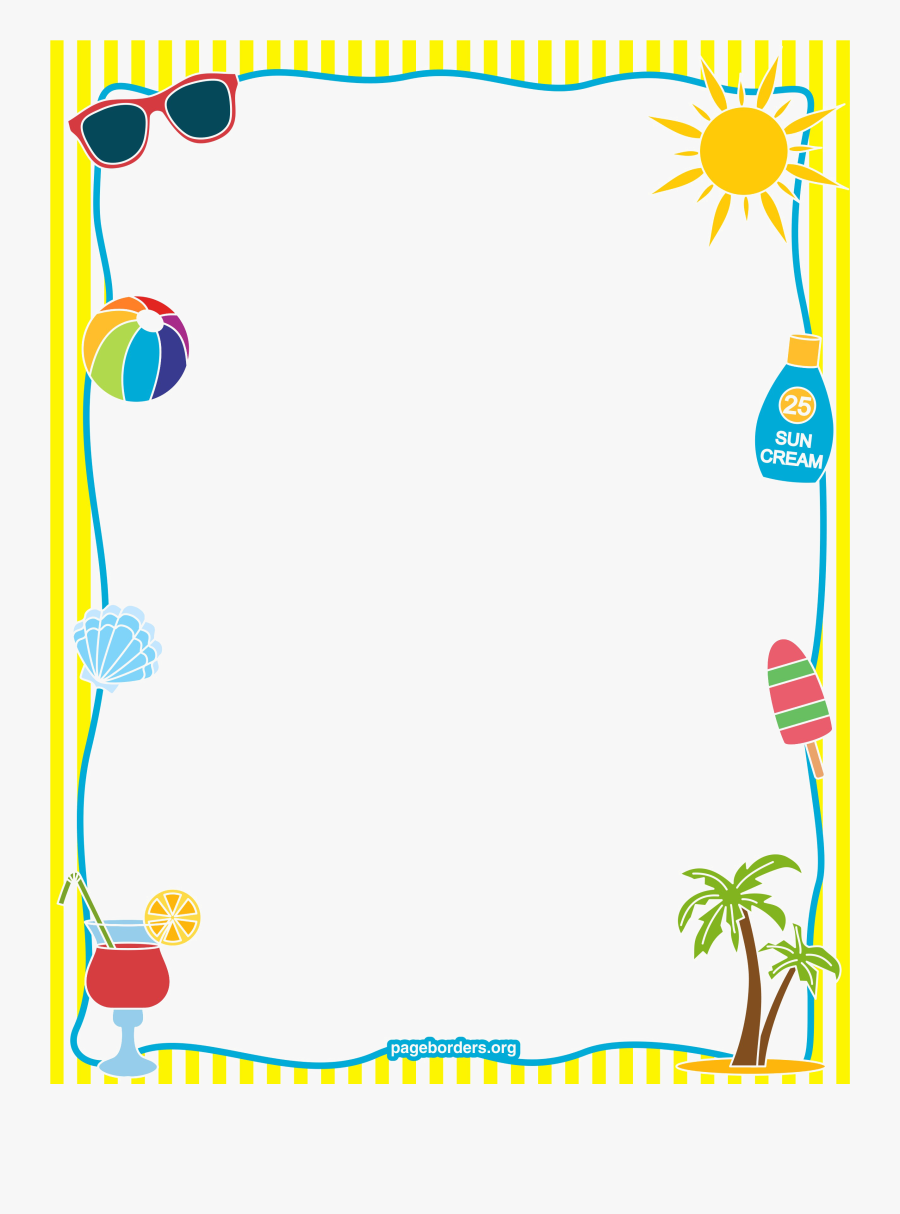 School Border Png Image - Summer Page Border , Free ...