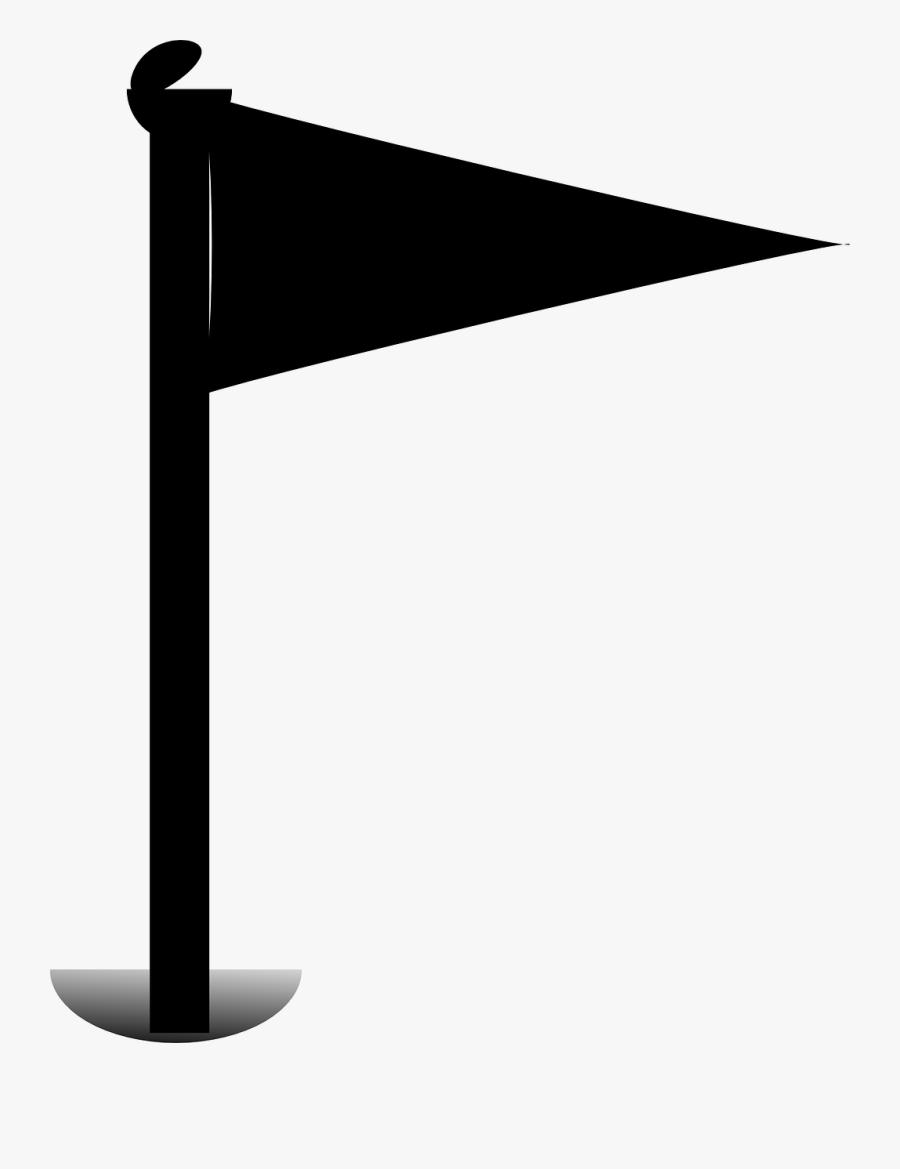 Golf, Flag, Putt, Putt-putt, Hole, Golfing - Golf Flag No Background, Transparent Clipart
