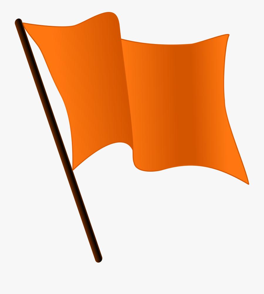 2000px-orange Flag Waving - Orange Flag Waving Gif, Transparent Clipart