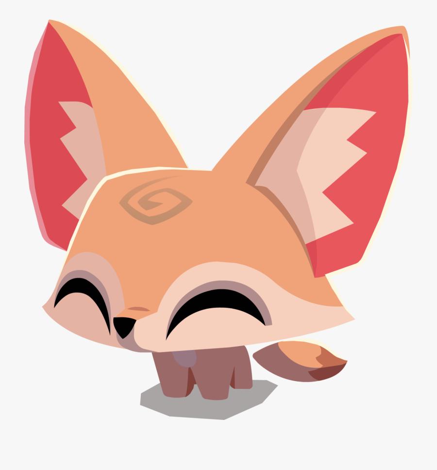 57, March 7, - Animal Jam Fennec Fox, Transparent Clipart