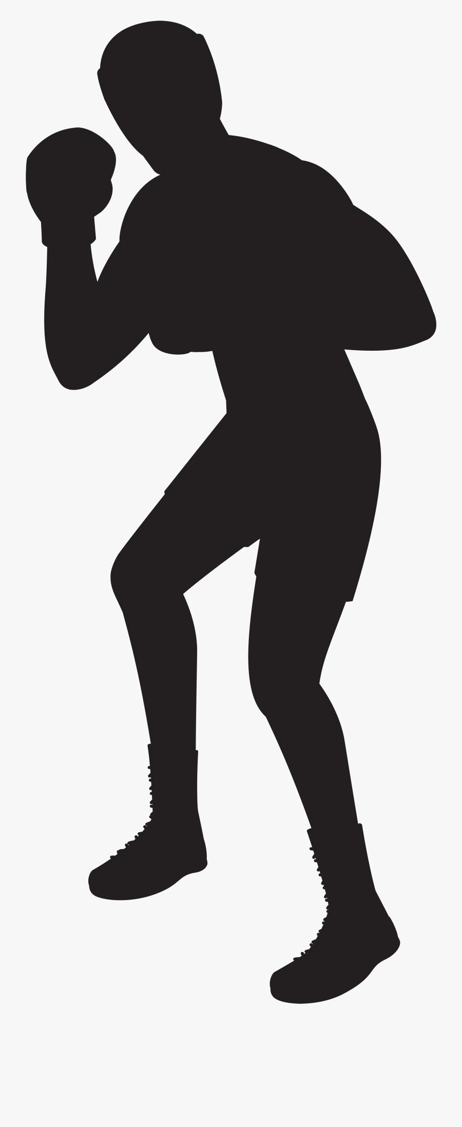 Transparent Silhouette Man Png - Transparent Boxing Clip Art, Transparent Clipart