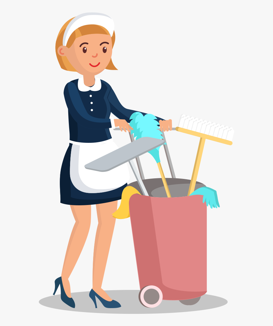 Cleaning Service Worker Cartoon Png, Transparent Clipart