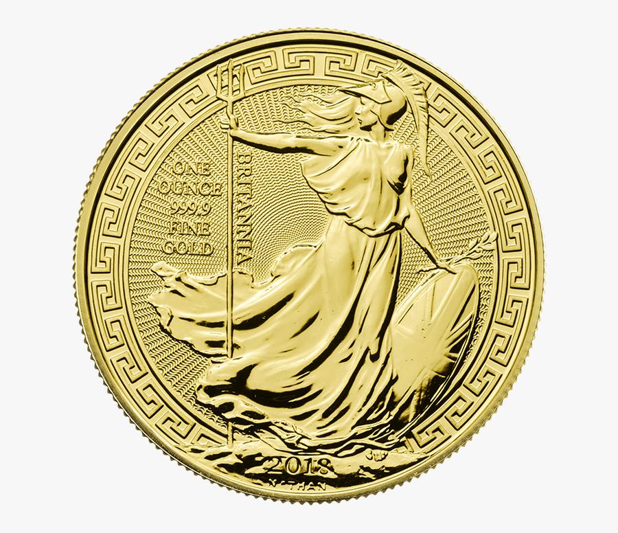 Britannia 2018 Oriental Border 1 Oz Gold Coin - Britannia 2019 Oriental Border 1 Oz Gold Coin, Transparent Clipart