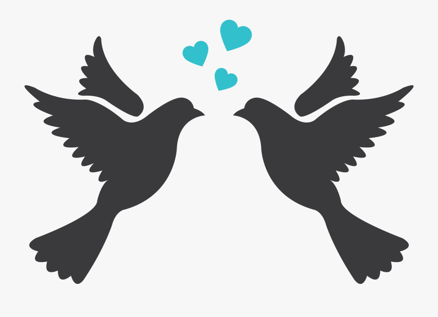 Lovebird Silhouette Drawing Clip Art Wedding Love Birds Silhouette Free Transparent Clipart Clipartkey