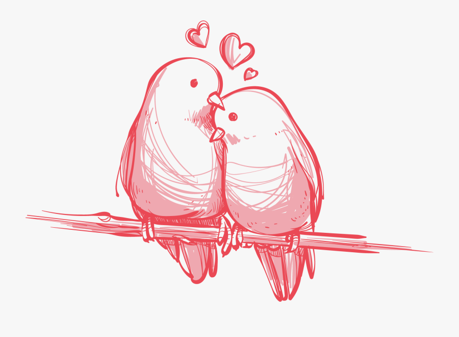 Transparent Wedding Love Birds Clipart Black And White Love Birds Vector Png Free Transparent Clipart Clipartkey