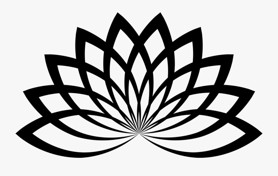 Lotus, Floral, Flower, Abstract, Geometric, Line Art - Lotus Flower Vector Png, Transparent Clipart