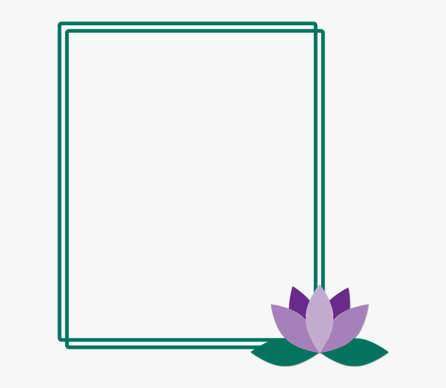 Frame, Lotus, Flower, Picture Frame, Green, Lilac - Portable Network Graphics, Transparent Clipart