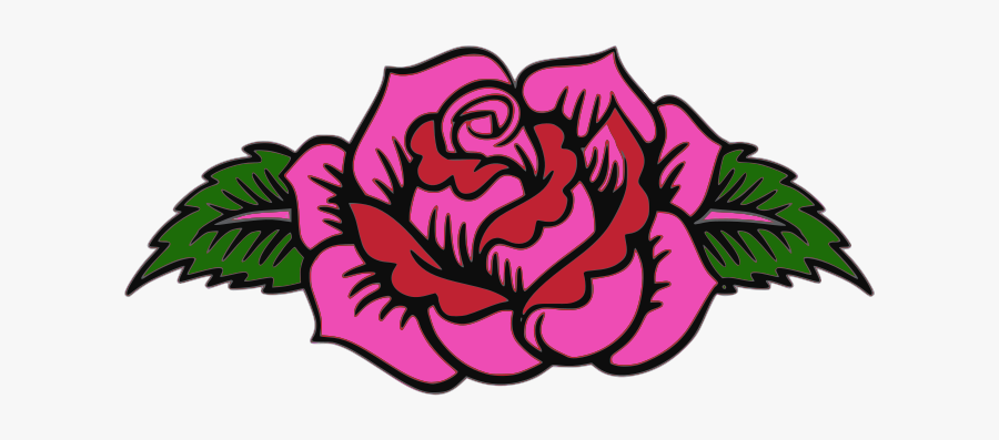 Pink Rose - Day Of The Dead Flower Designs, Transparent Clipart