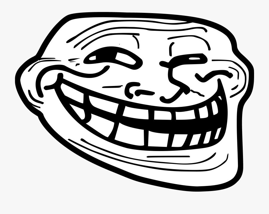 Rage Comic Internet Troll Clip Art - Troll Face, Transparent Clipart