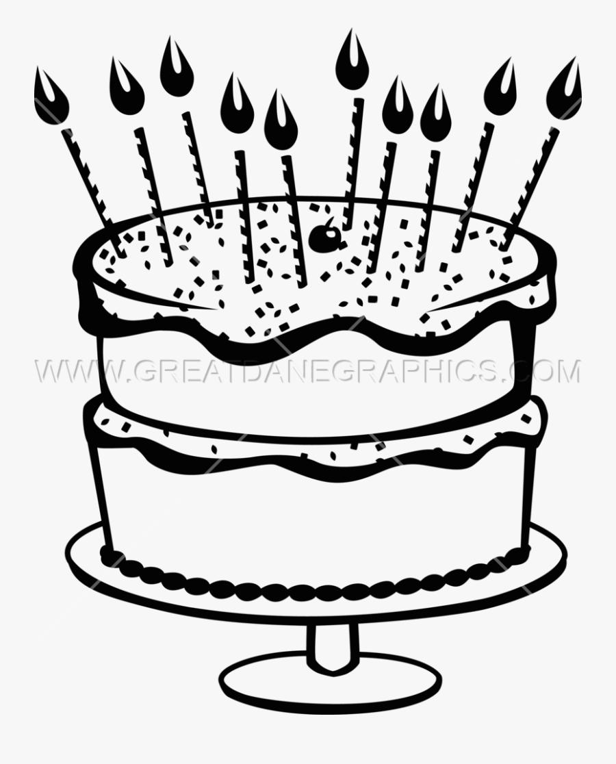 Clipart Cake Black And White Gambar Kue Ultah Hitam Putih